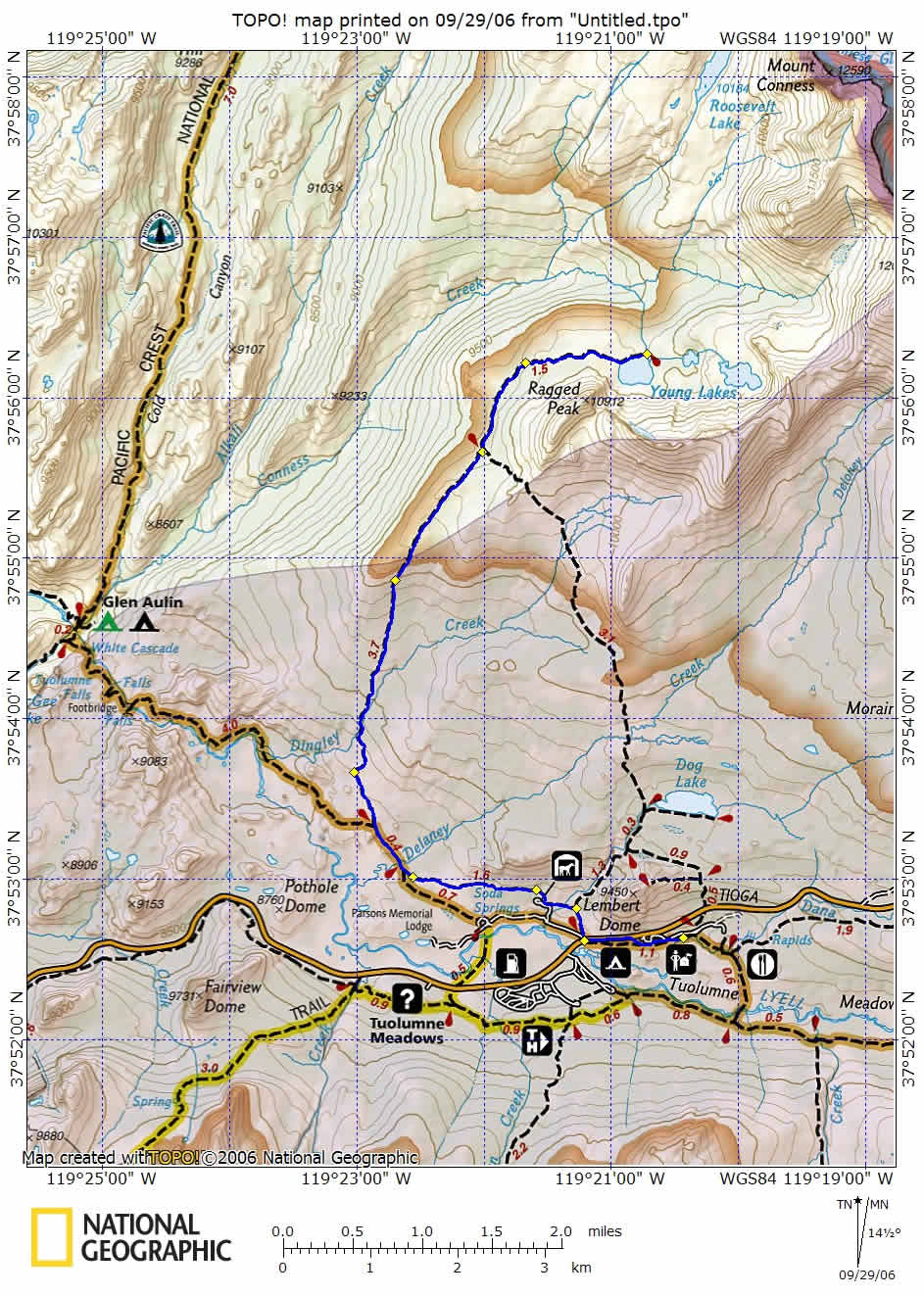 Young Lakes Route from National Geographic Maps